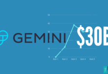 Gemini Holds $30B Worth of Cryptocurrency Under Custody