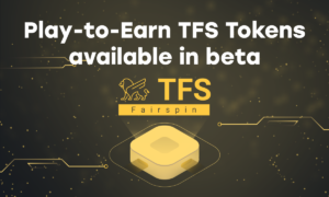Early adopters can now use Fairspin tokens: TFSbeta is available for players before the token sale launch