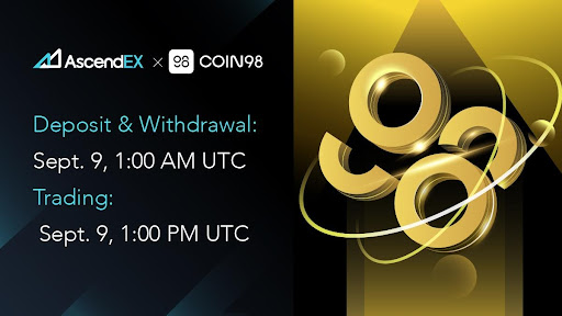 Coin98 Lists on AscendEX