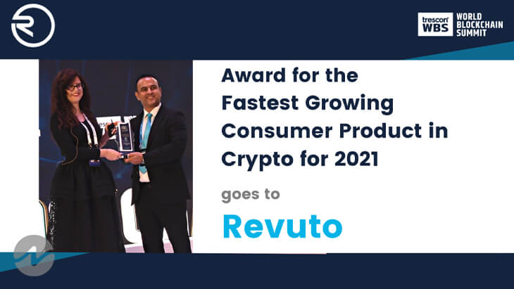 Revuto Grabs the Fastest Growing Consumer Product Award in Crypto for 2021